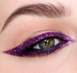 Purple colored eyeliner