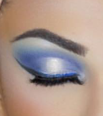 Frosted Winter blue eyeshadow makeup