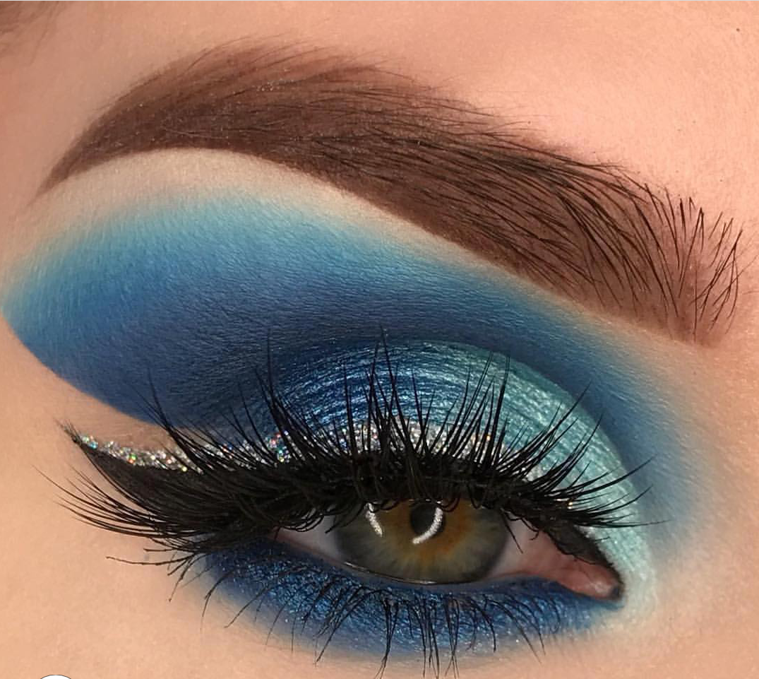 Blue lagoon eye makeup