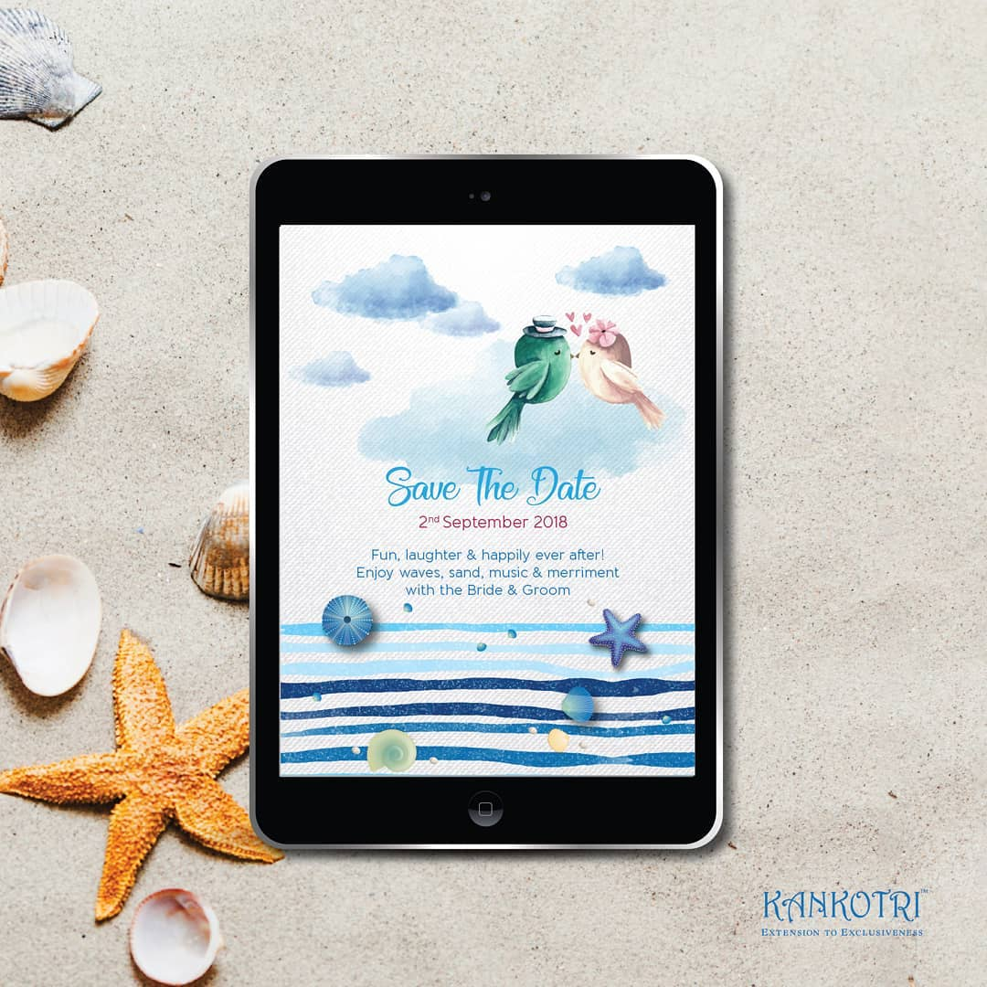 beach destination wedding save the date invitation quotes - Fun, laughter & happily ever after! Enjoy waves, sand, music & merriment with Bride & Groom