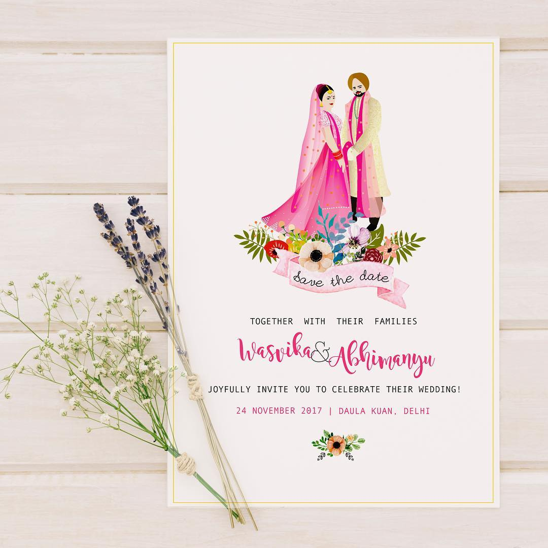 Matching Save The Date And Wedding Invitations: 40+ Best Save The Date Invites For Your Indian Wedding