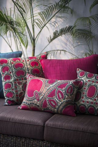bright cushions for beautiful home interiors
