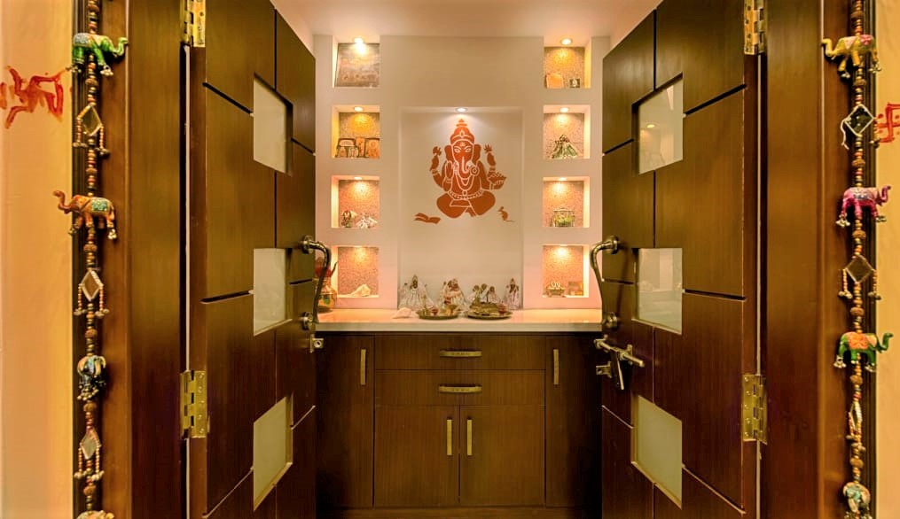 wooden pooja room door designs