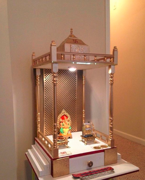 How To Fit A Mandir Into Your Small Apartment The Urban Guide