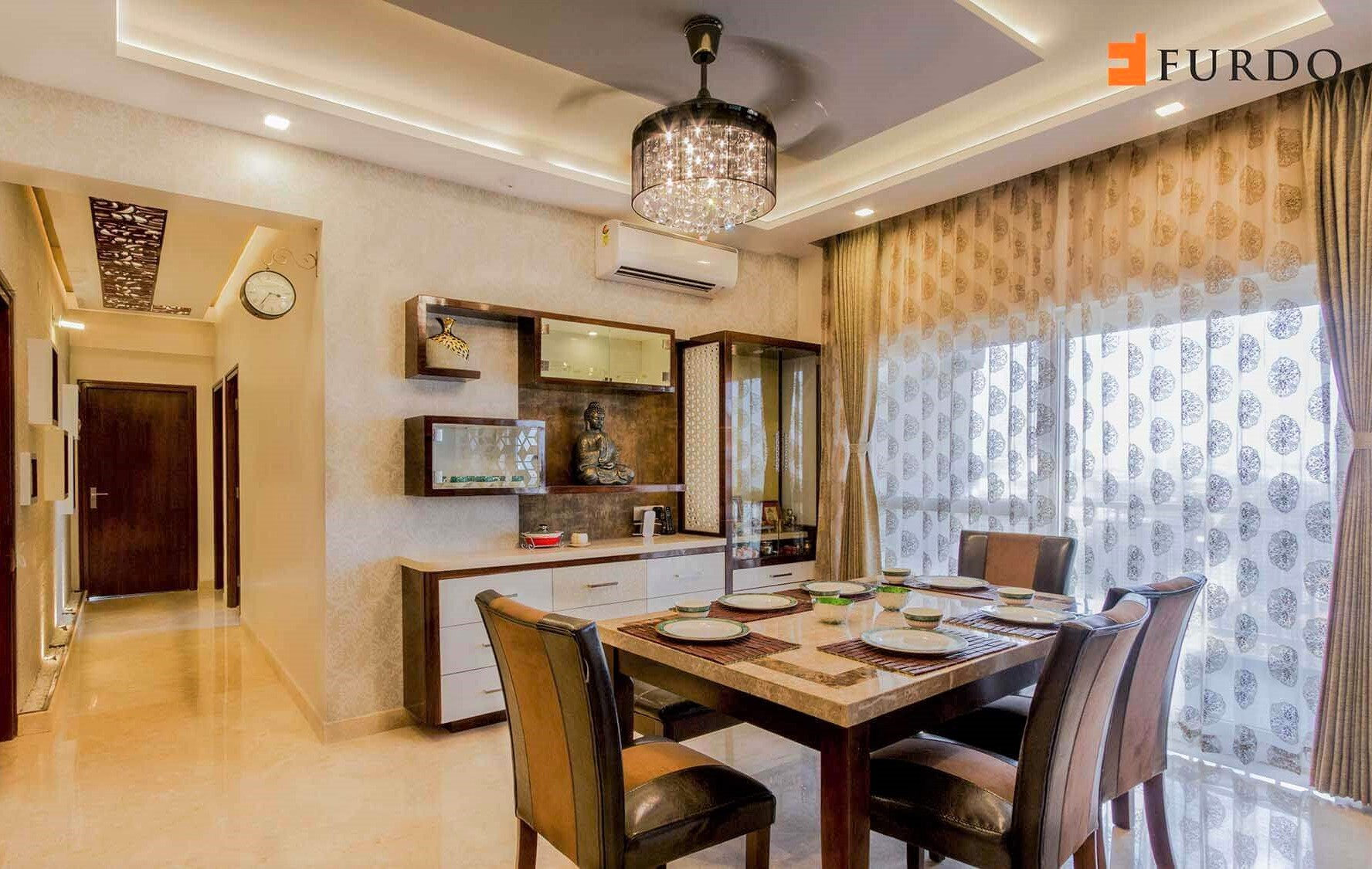 9 small mandir design ideas for indian homes wall - Wall mounted wooden temple design for home ...