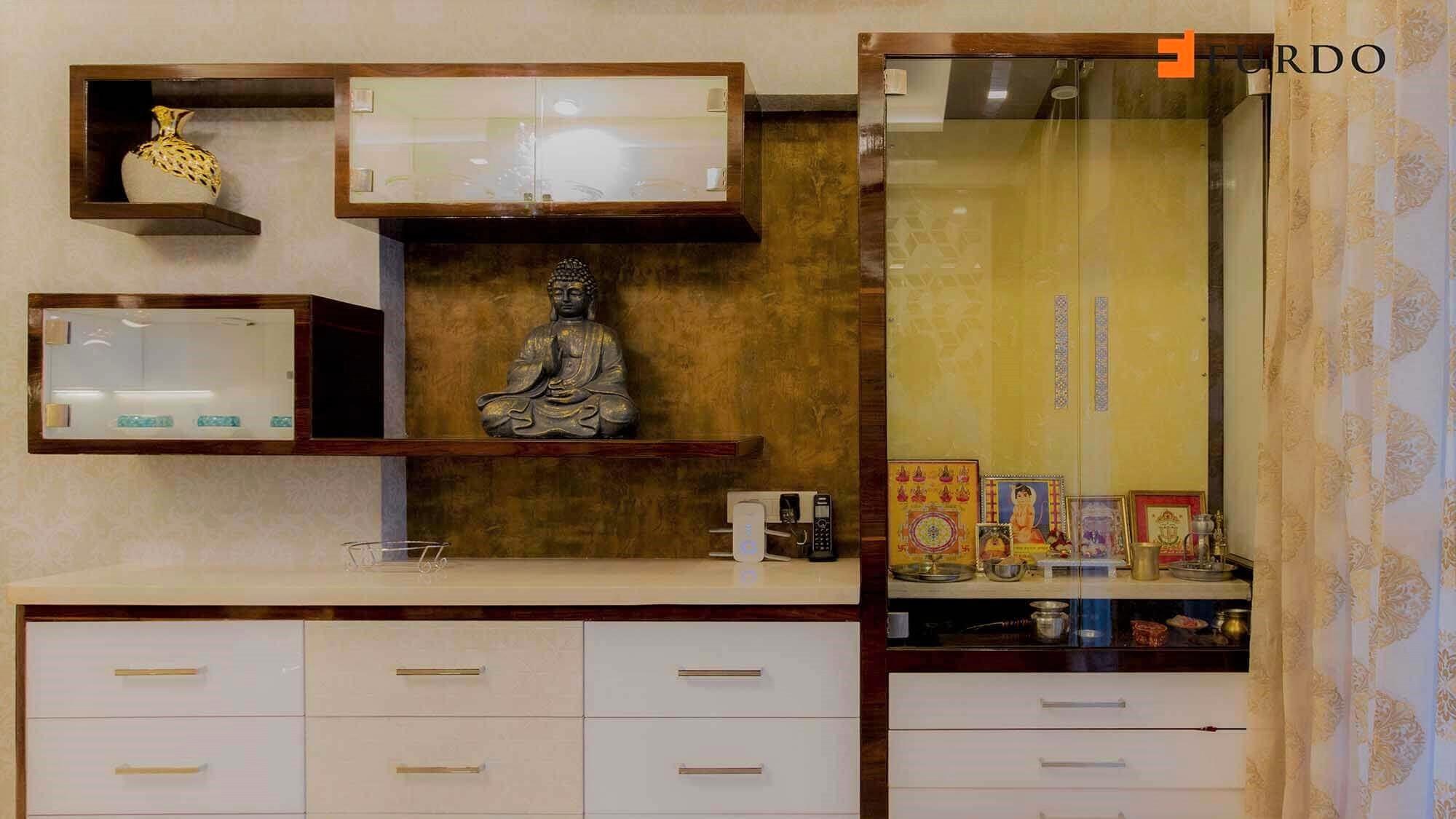 small mandir design cabinet