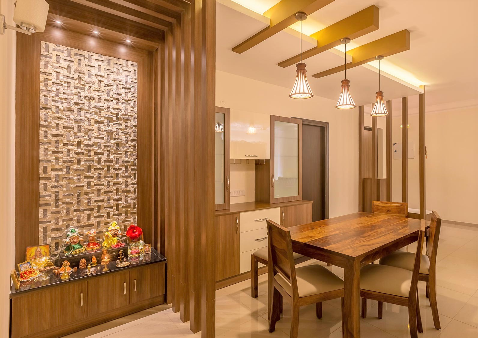 9 Small Mandir Design Ideas for Indian Homes (Wall ...