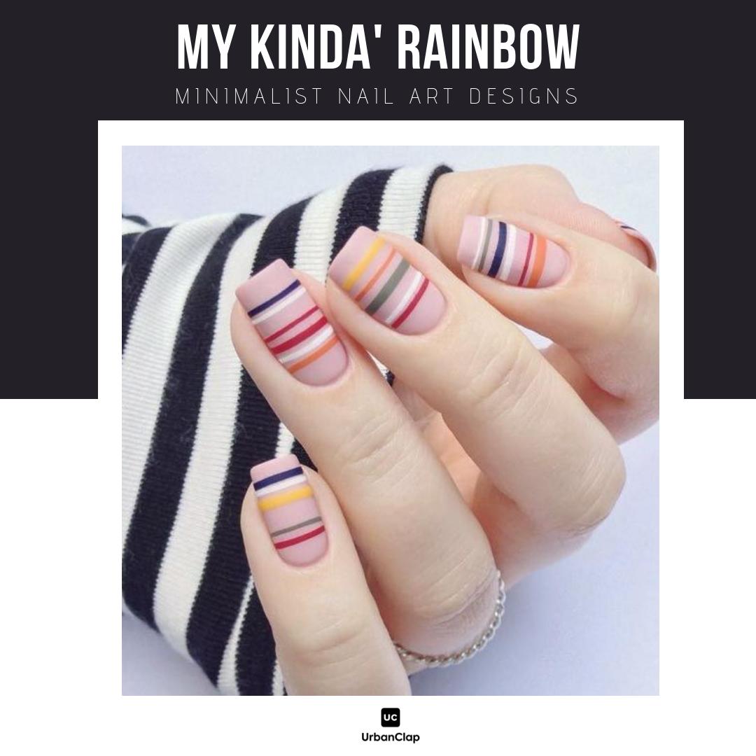 Minimalist nail art design 1