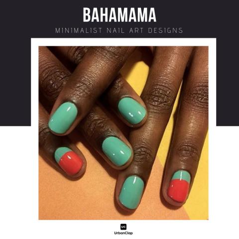 Minimalist nail art design 4