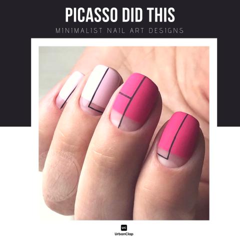 Minimalist nail art design 6
