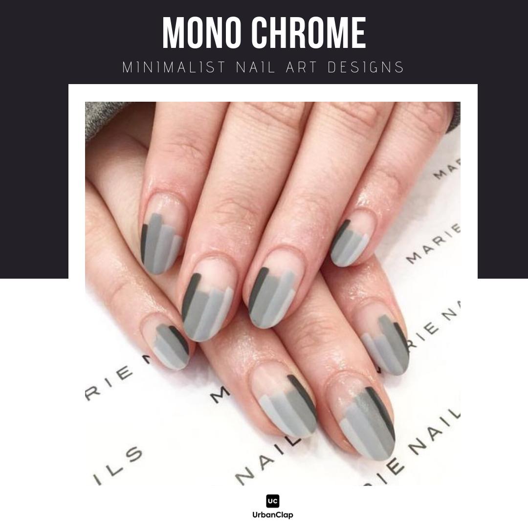 Minimalist nail art design 7