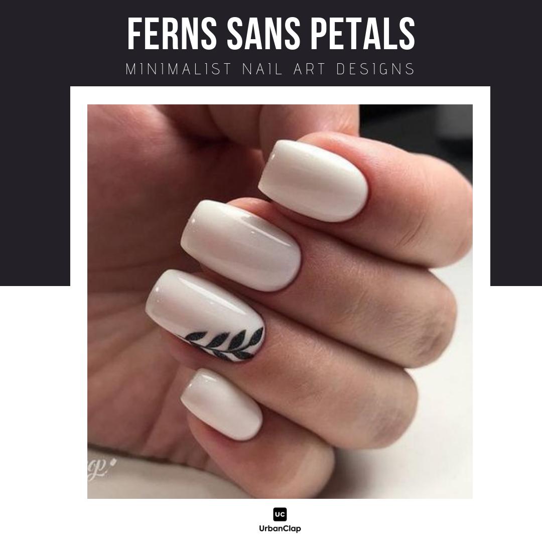 Minimalist nail art design 13