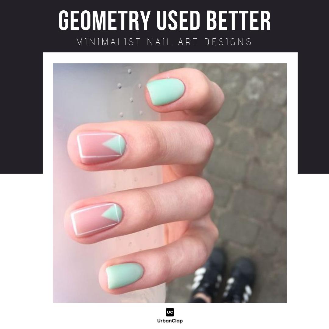 Minimalist nail art design 14