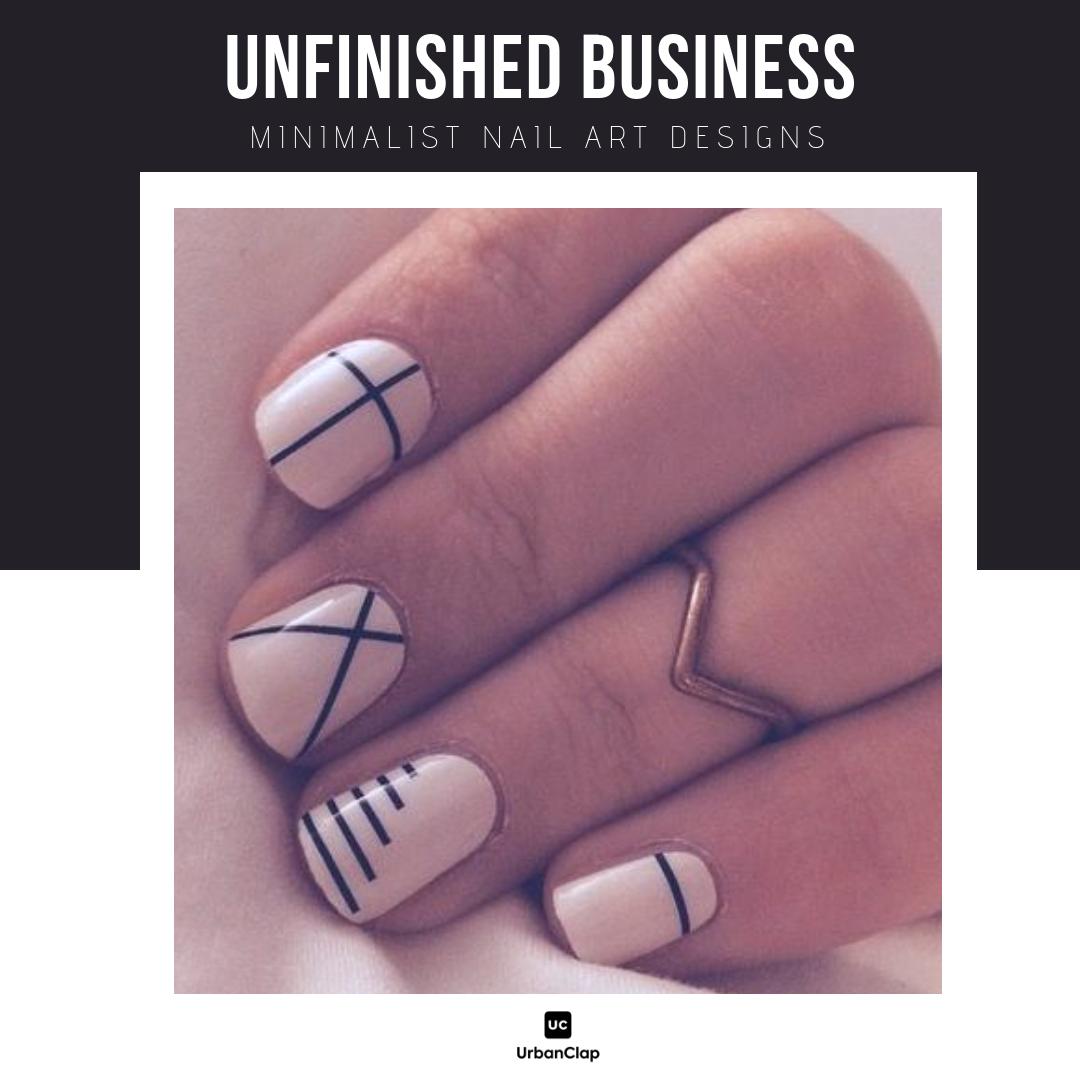 Minimalist nail art design 16
