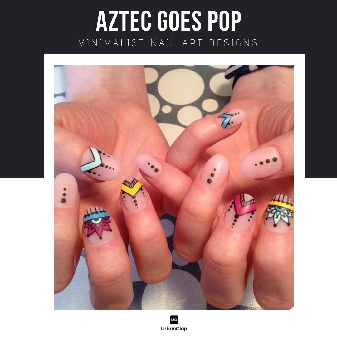 Minimalist nail art design 18