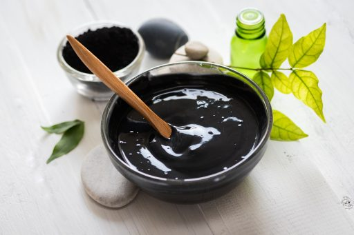 DIY charcoal mask for oily skin