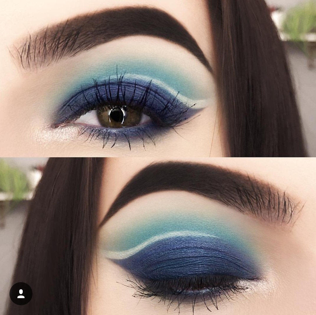 baby blue navy blue eye makeup