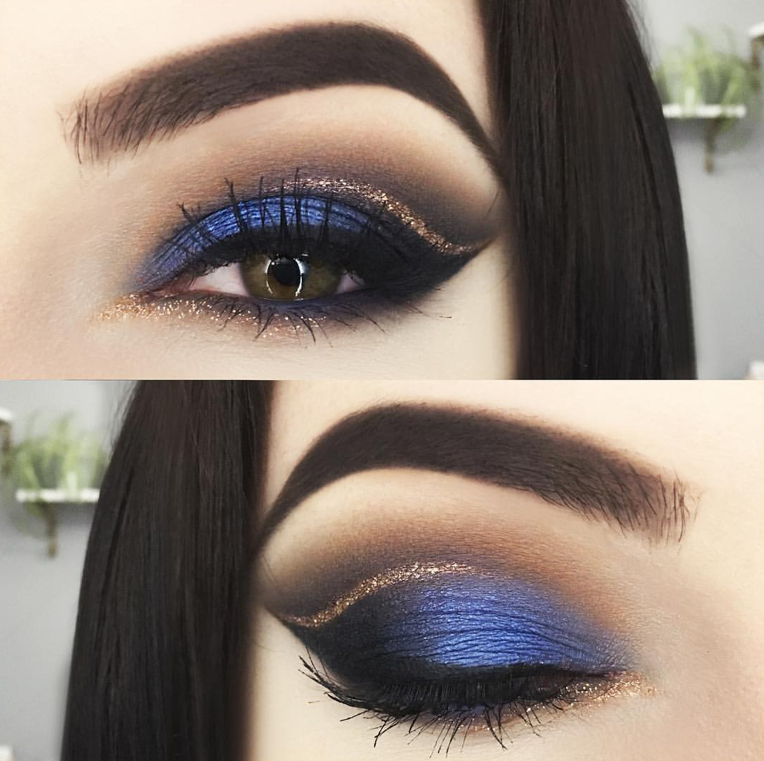 dark blue eye makeup