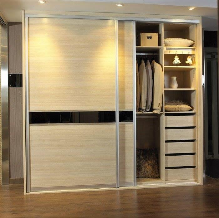 modular wooden wardrobe designs