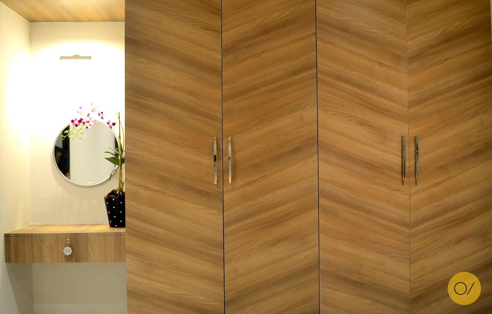herringbone patterned wooden wardrobe designs