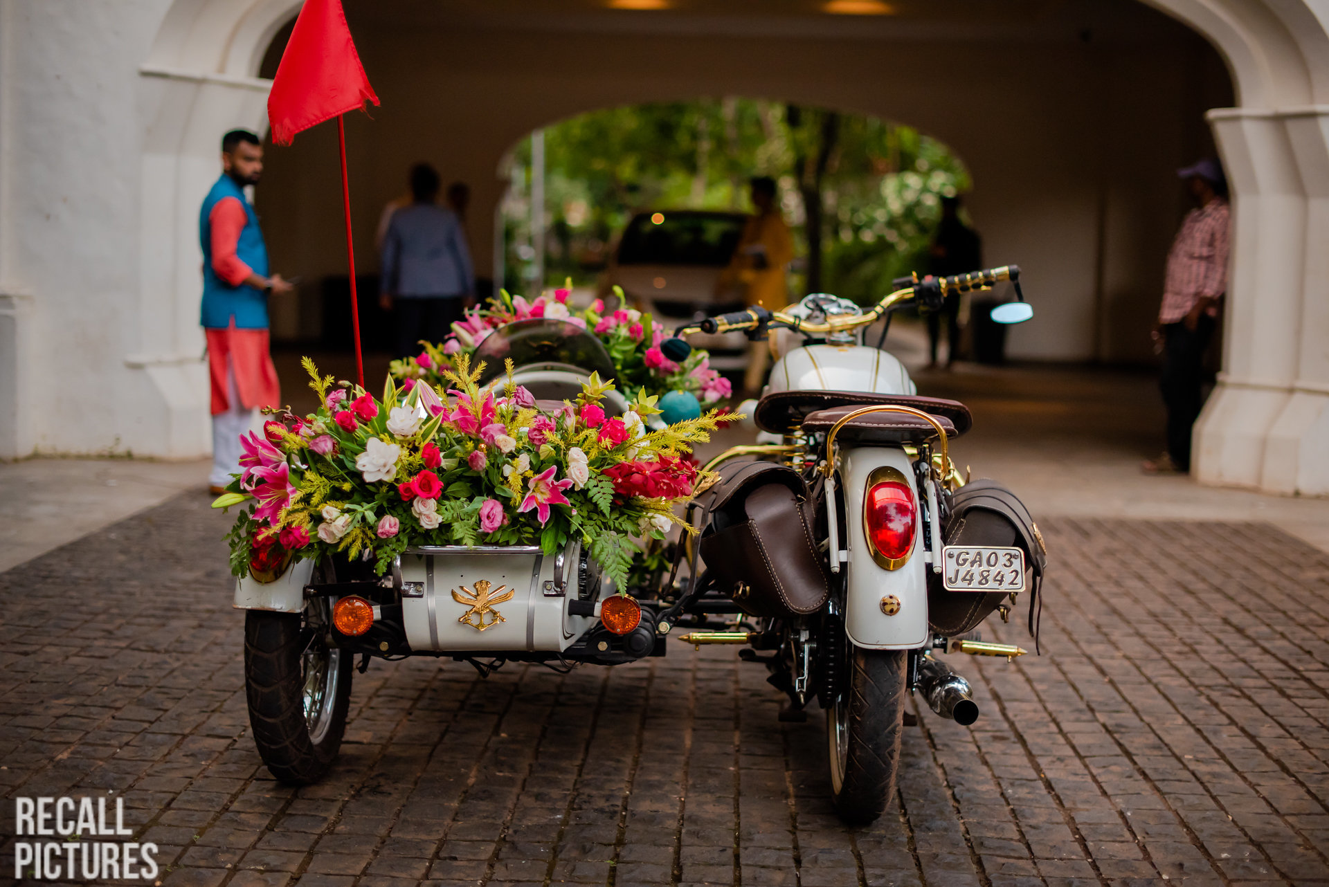 groom entry idea - on a motorcycle