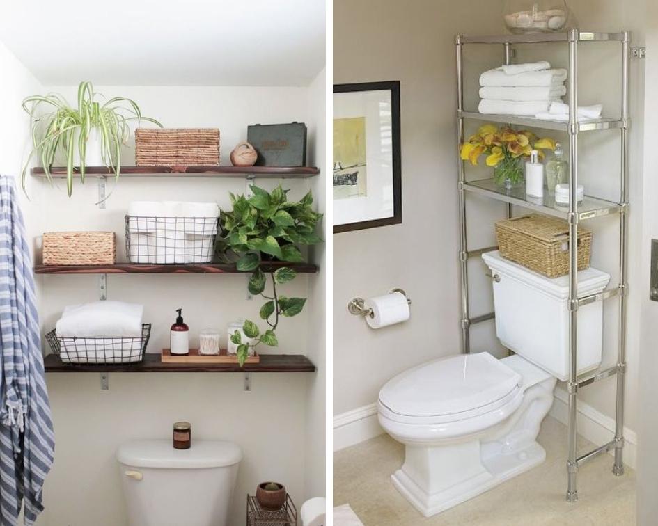over the toilet bathroom storage ideas
