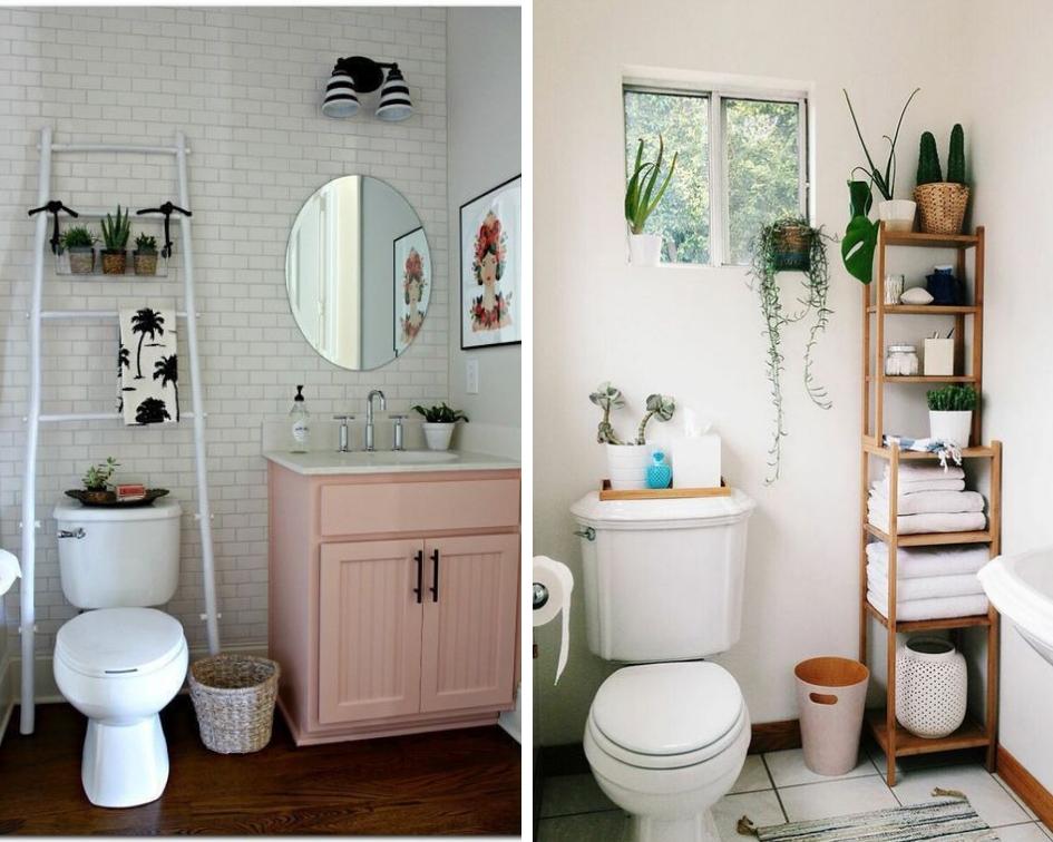 bathroom storage ideas with ladders