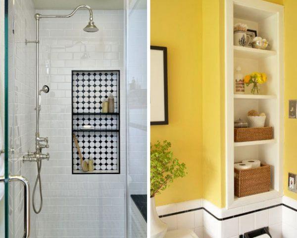 wall niche bathroom storage ideas