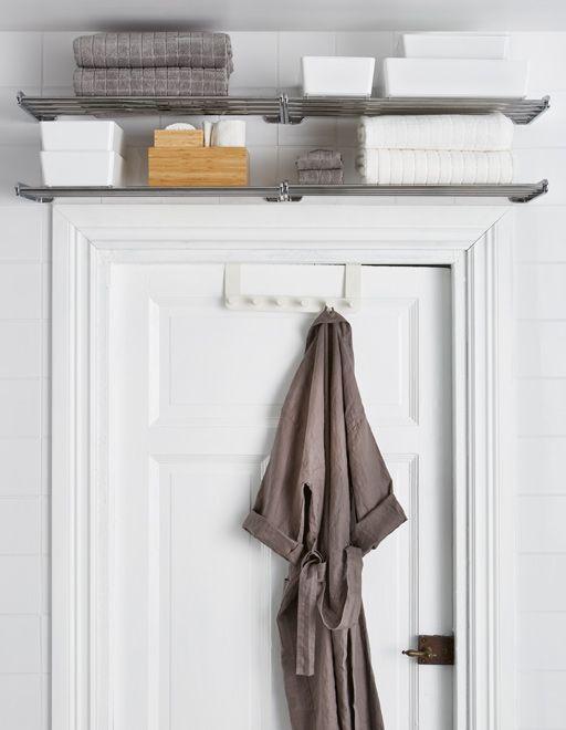 overhead bathroom storage ideas