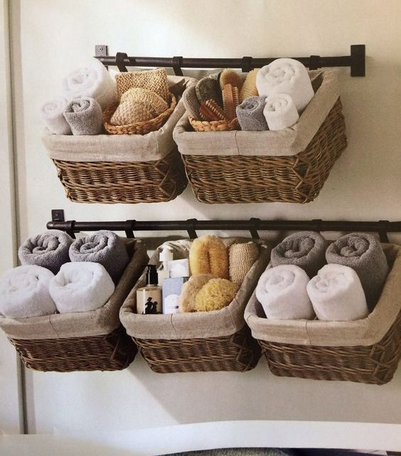 bathroom storage ideas with baskets