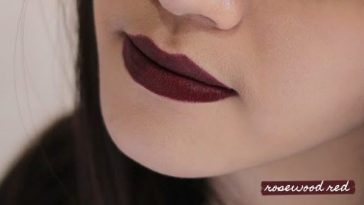 Maybelline Rosewood red lipstick shade