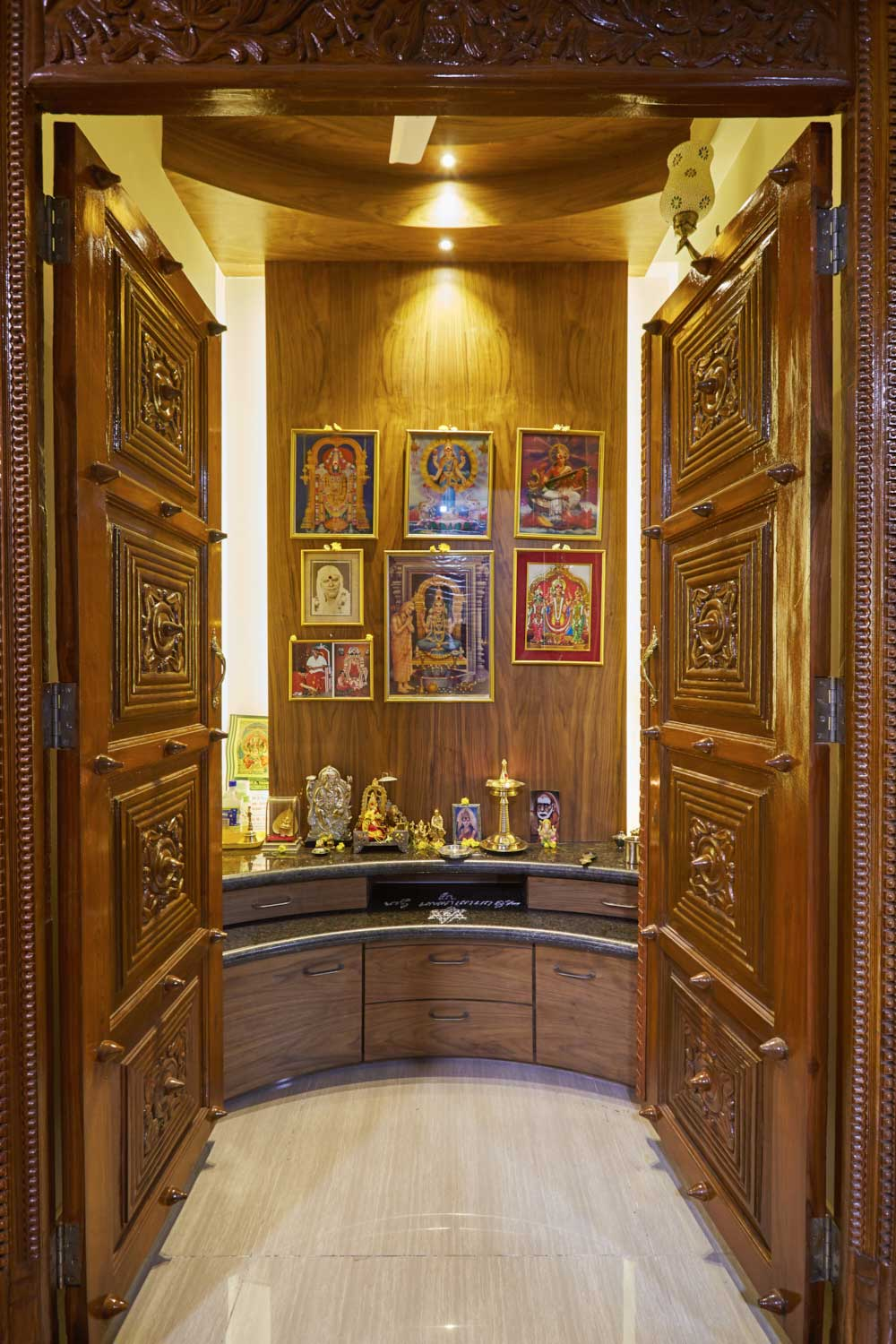 south indian wooden prayer mandir designs for homes