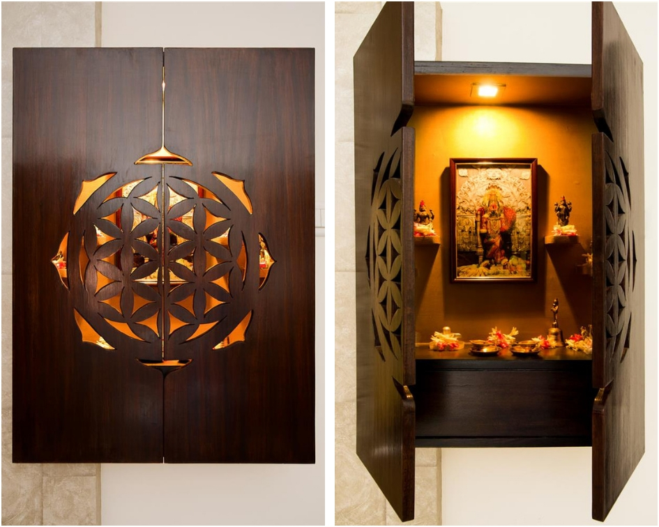 wall mounted pooja unit