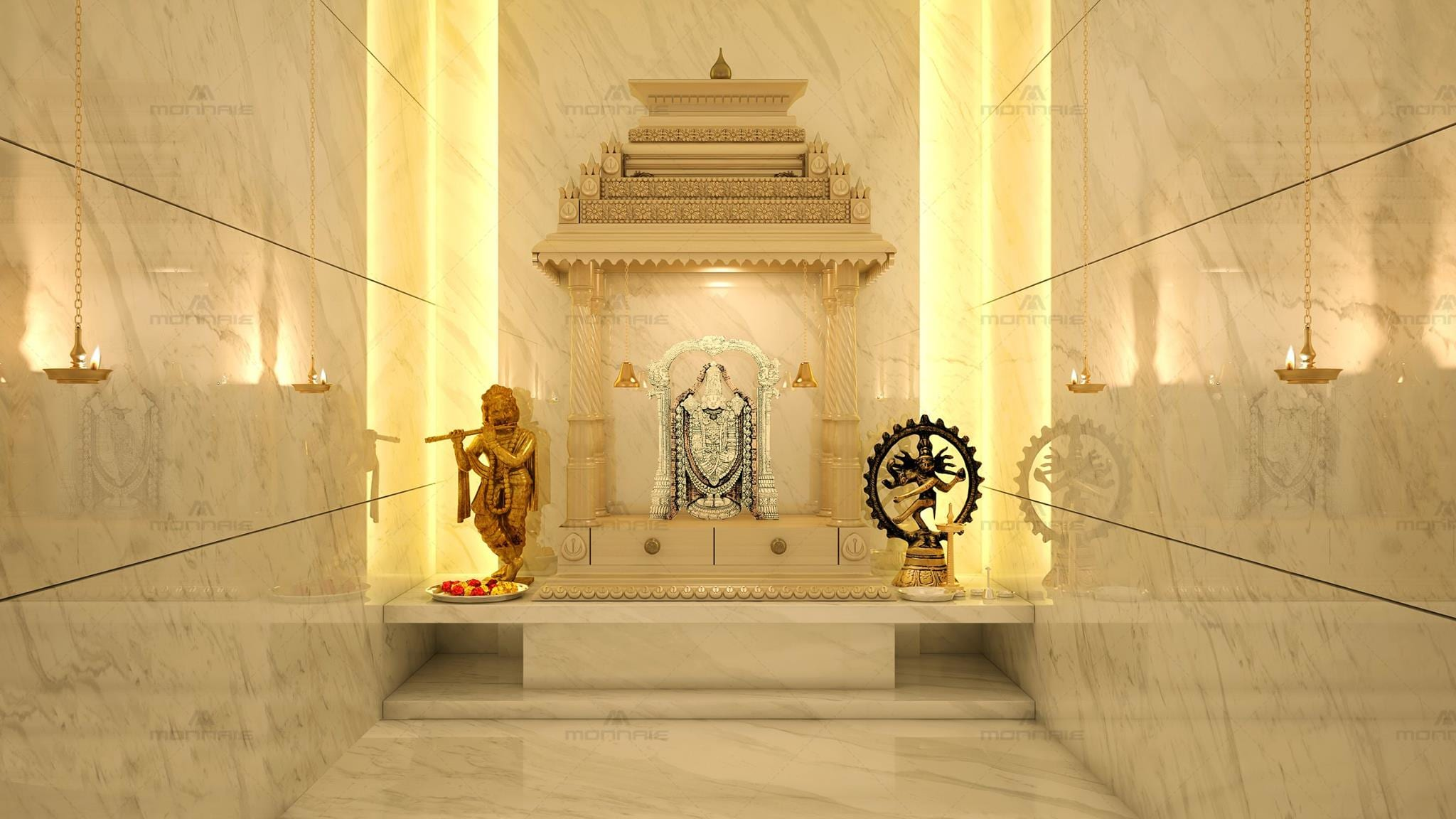 These Marble Pooja Mandir Designs For Homes Are Just Divine The Urban Guide