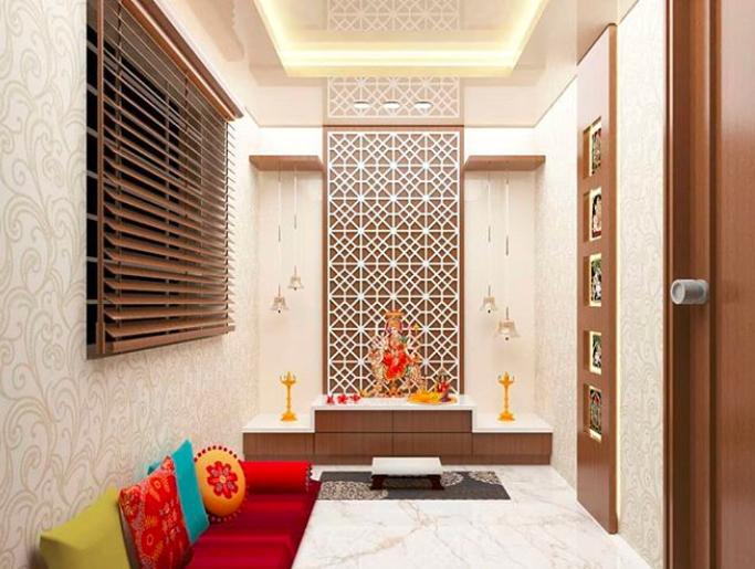 Living Room Mandir Designs For Flats