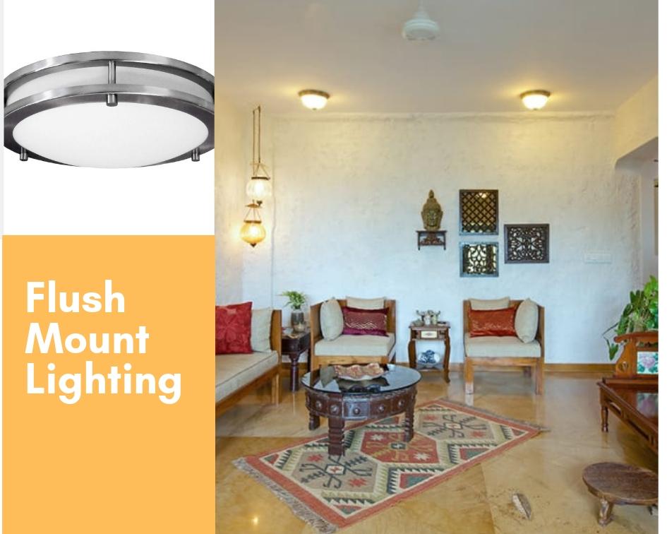 flush mount false ceiling lights