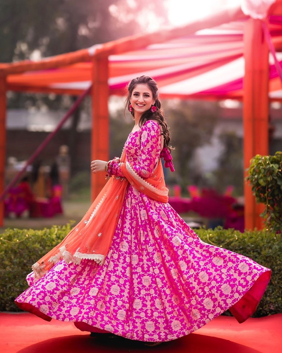 a93a02f04b Full sleeve Benarsi silk anarkali. Image courtesy  Delhi Velvet   Bride  wearing Bageecha Benaras