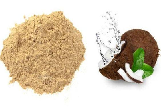 multani mitti with coconut water to treat sun tan