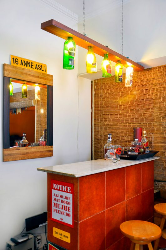 interesting bar space in indian house