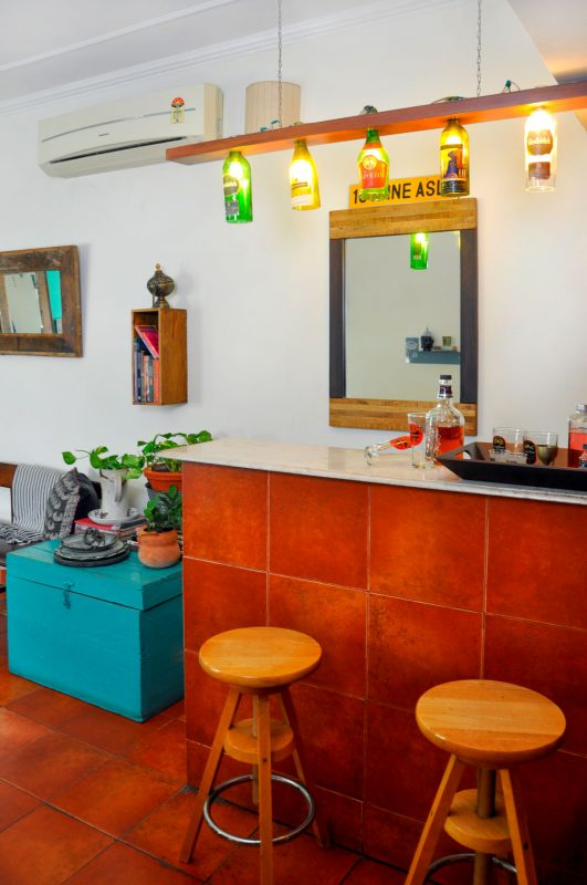 bar space in indian home