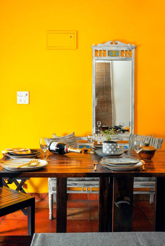 yellow wall paint colour for indian dining room