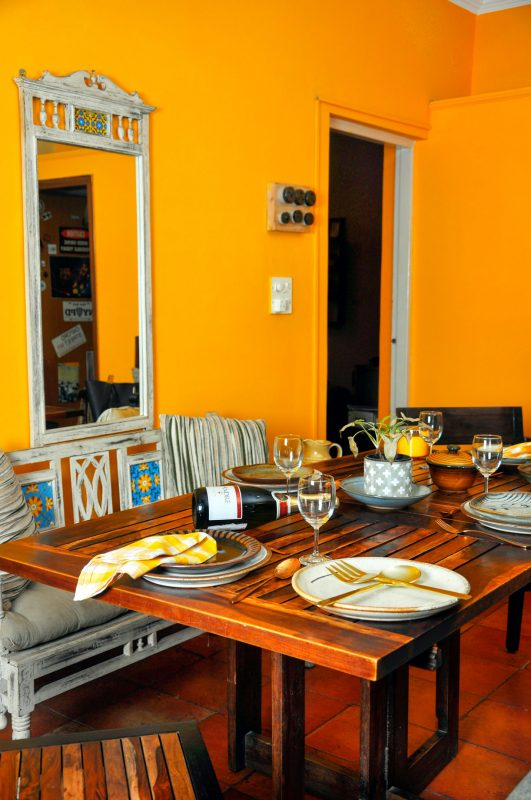 colourful indian dining room