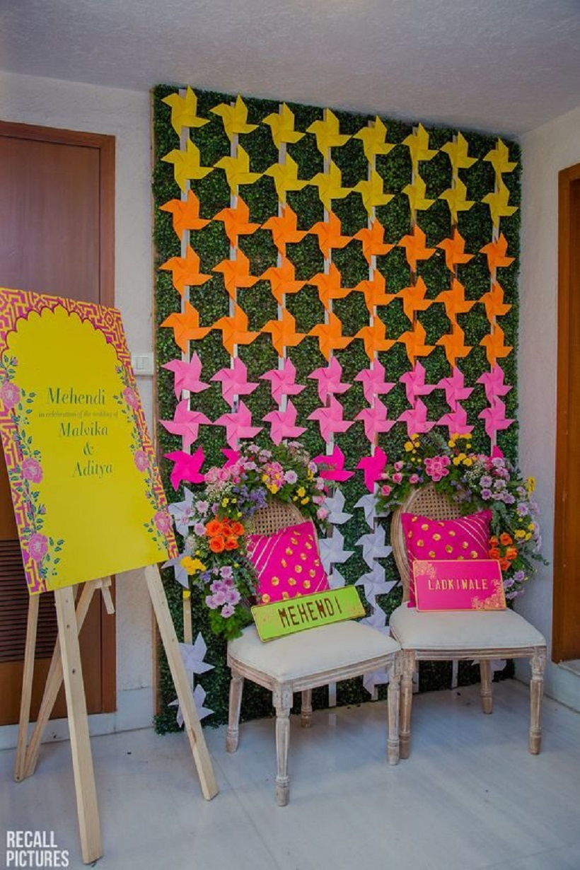 Entry decor Mehendi at home