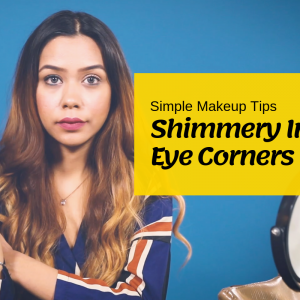 Simple Makeup Tips | How to Use Old Eyeshadow for Shimmery Eye Corners
