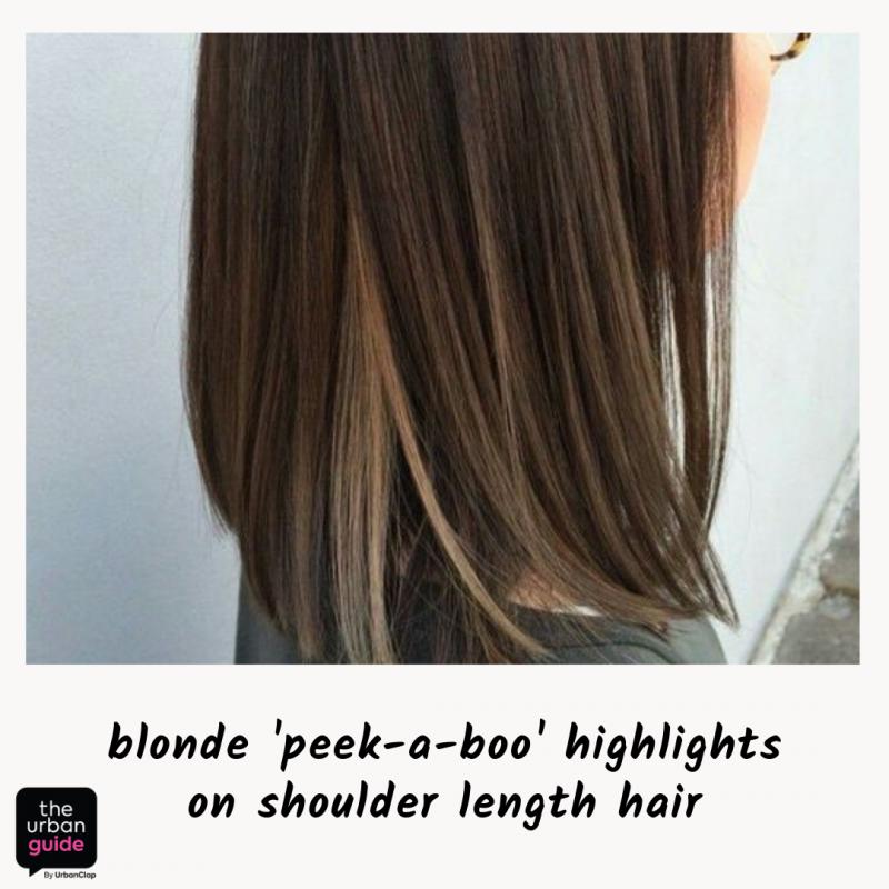 blonde highlights platinum blonde peek a boo highlights