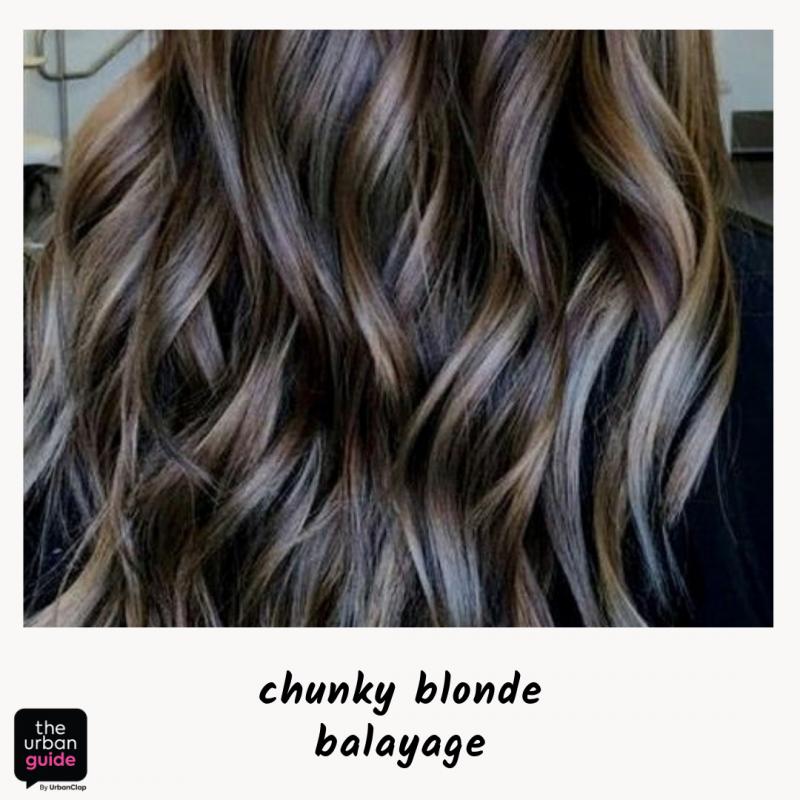 chunky blonde highlights