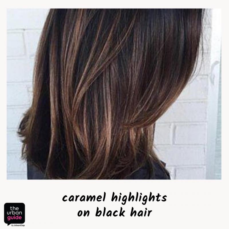 caramel highlights