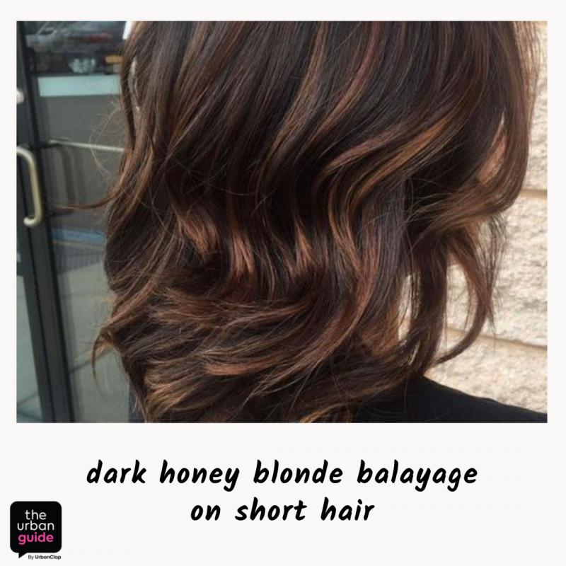 dark honey blonde balayage