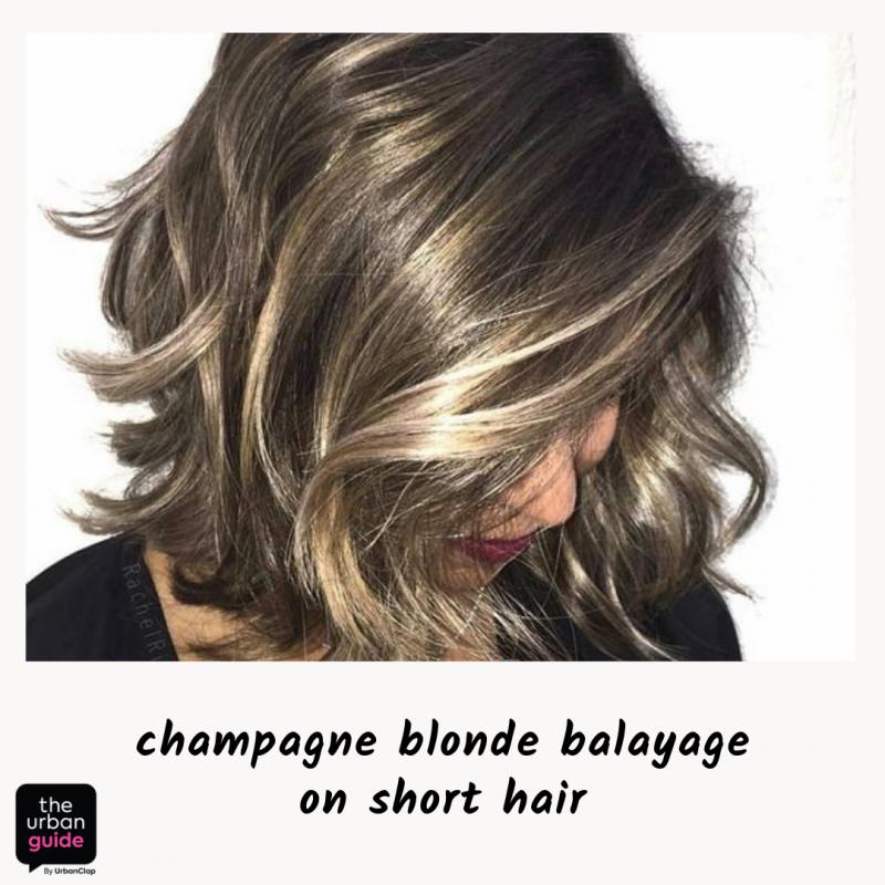 champagne blonde balayage