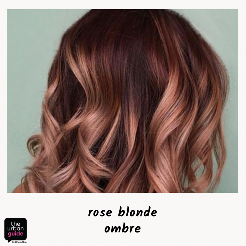 rose blonde ombre